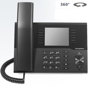 IP Telefonie: Das IP Telefon innovaphone IP222 mit  Farbdisplay steht für modernes Design.